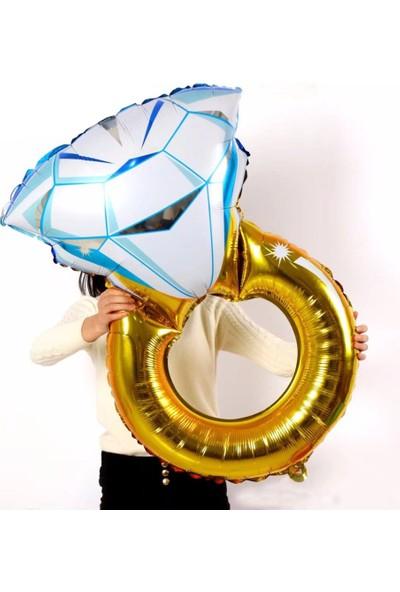 Cin Dev Boy Evlilik Teklifi Tek Taş Aşk 110Cm. Folyo Balon Cin125