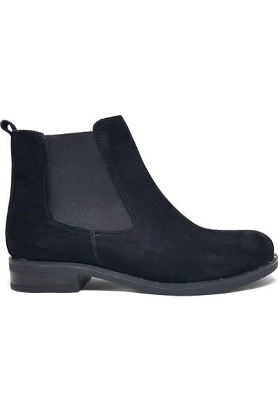 Shop And Shoes 004-1708 Kadın Bot Siyah Süet
