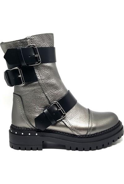 Shop And Shoes 061-0847244 Kadın Bot Platin