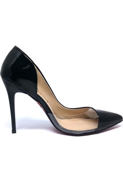 Shop And Shoes 100-1964 Kadın Stiletto Siyah Rugan
