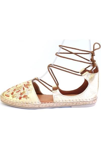 Shop And Shoes 100-7628 Kadın Sandalet Altın