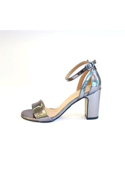 Shop And Shoes 122-1185 Kadın Ayakkabı Platin Ayna