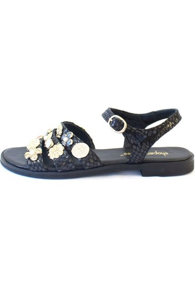 Shop And Shoes 122-1711 Kadın Sandalet Siyah