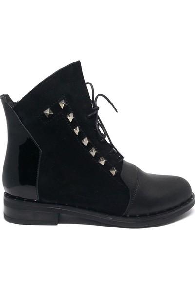 Shop And Shoes 150-1066 Kadın Bot Siyah Siyah Süet