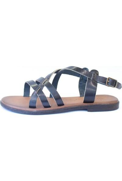 Shop And Shoes 155-1005 Kadın Sandalet Siyah