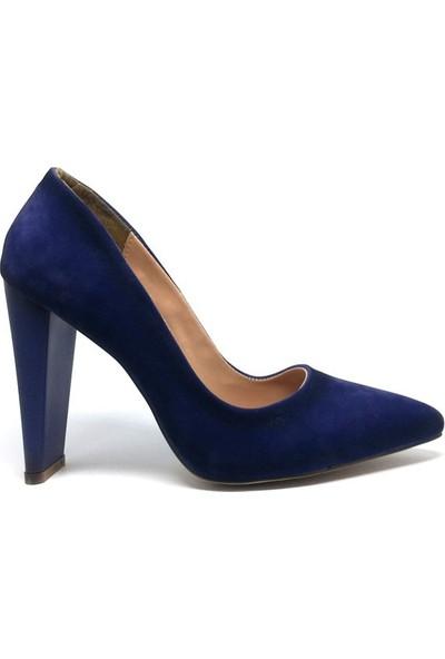 Shop And Shoes 155-211 Kadın Ayakkabı Saks Süet