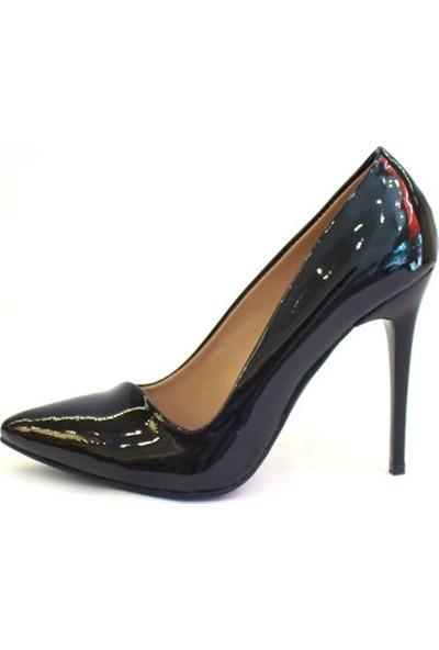 Shop And Shoes 162-070 Kadın Ayakkabı Siyah Rugan