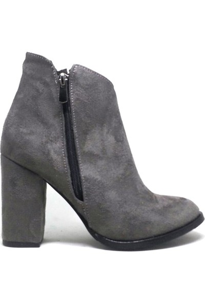 Shop And Shoes 164-560-Y Kadın Bot Gri Süet