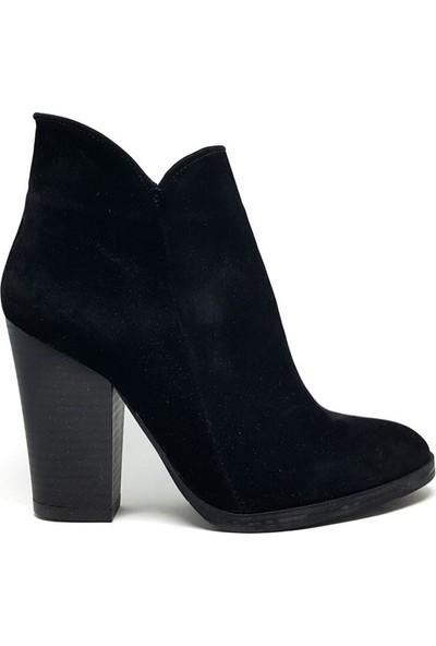 Shop And Shoes 171-404 Kadın Bot Siyah Süet