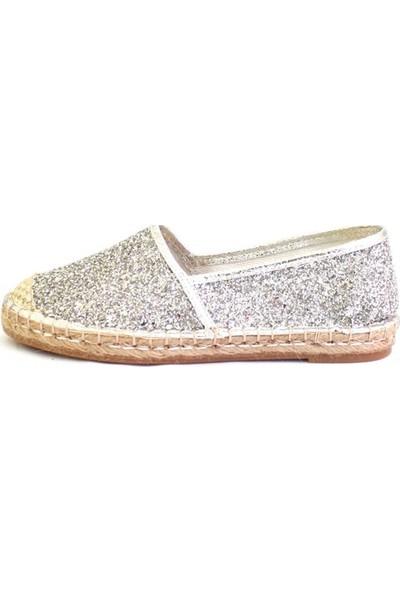 Shop And Shoes 172-2403 Kadın Ayakkabı Gümüş Camkırığı