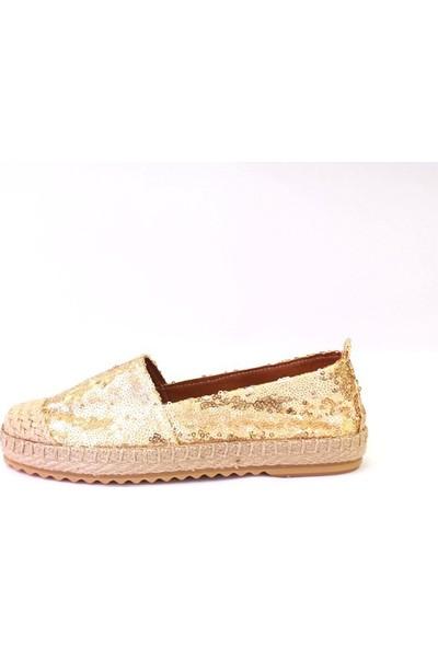 Shop And Shoes 172-6120 Kadın Ayakkabı Altın Pullu