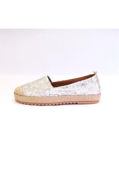 Shop And Shoes 172-6120 Kadın Ayakkabı Gümüş Pullu