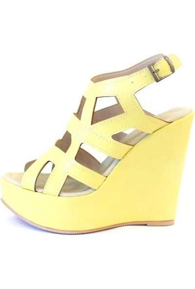 Shop And Shoes 173-17140 Kadın Ayakkabı Sarı