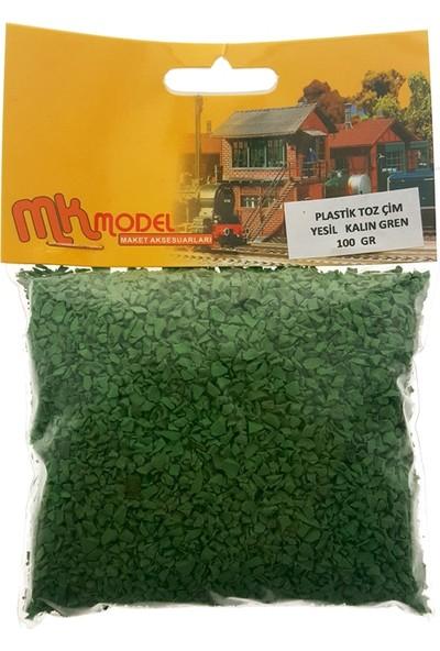 Mk Model Plastik Toz Çim Yeşil Kalın Grenli 100Gr.