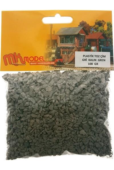 Mk Model Plastik Toz Çim Gri Kalın Grenli 100Gr.