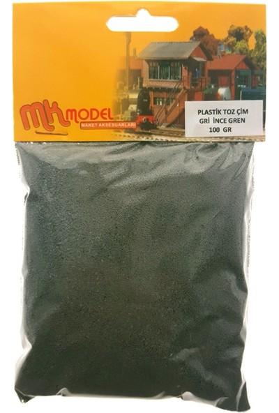 Mk Model Plastik Toz Çim Gri İnce Grenli 100Gr.