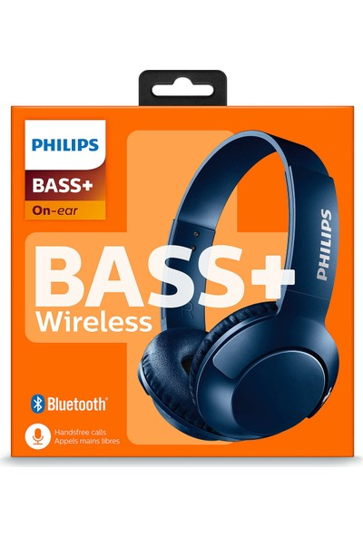 Philips SHB3075BL/00 BASS+ Mikrofonlu Bluetooth Kulaklık - Mavi
