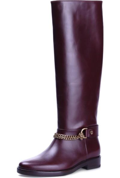 Lanvin Kadın Çizme Bordo