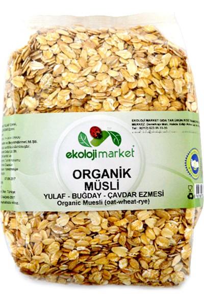Ekoloji Market Organik Müsli (Yulaf - Buğday - Çavdar) 500 Gr