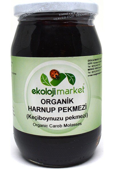 Ekoloji Market Organik Keçiboynuzu (Harnup) Pekmezi 450 Gr
