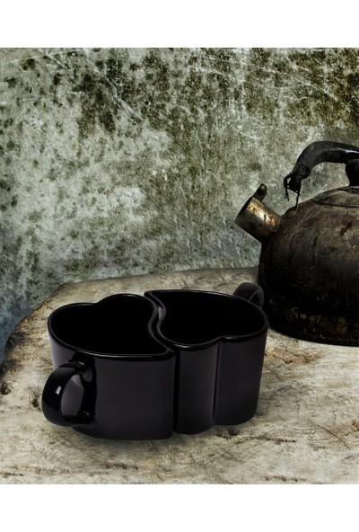 Siyah Kalp Kupa 10 cm 2 Adet