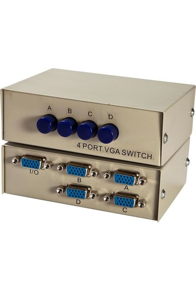 Platoon Vga 4 Port Switch 4 Kasa Monitör