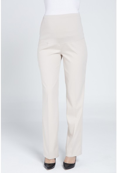 Casual Hamile Klasik Kumaş Pantalon 3300 Vizon