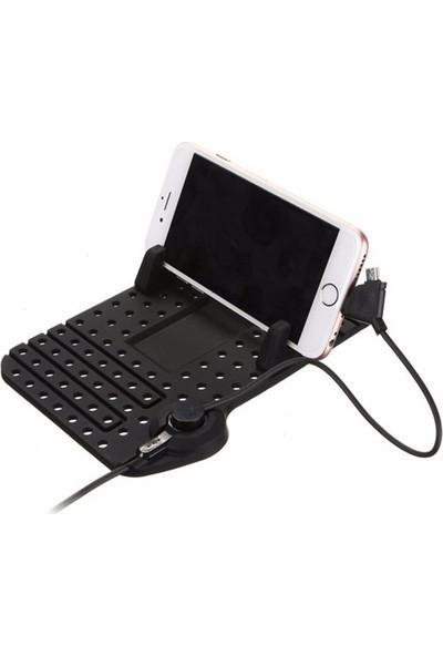 Markacase Döşeme Araç Tutucu Pad Şarj İstasyonlu Apple Ve Android Şarj