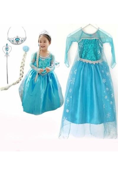 Ek Bebek Prenses Elsa Kostüm Seti