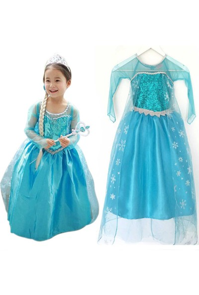 Ek Bebek Prenses Elsa Kostümü