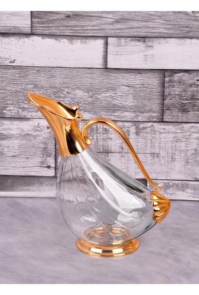 Bayev Altın Cam Ördek Sürahi - 400376