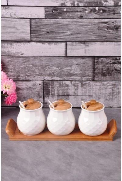 Bayev Bambulu Porselen 6 Lı Baharat - 100735
