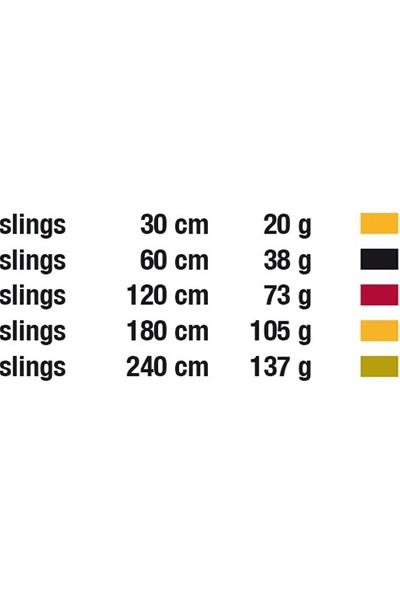 Edelweiss Slıng - Perlon Sw16mm X 240Cm - Col Green Sa16.240