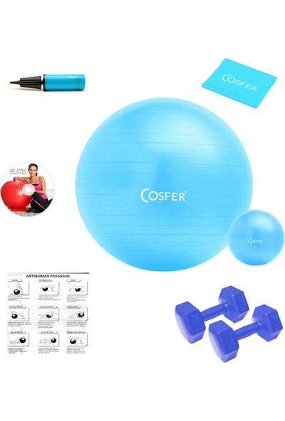 Cosfer 7 Parçalı New Version Turkuaz Pilates Seti