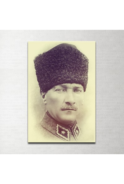 Plustablo Atatürk Portresi Kanvas Tablo 30x45 cm.