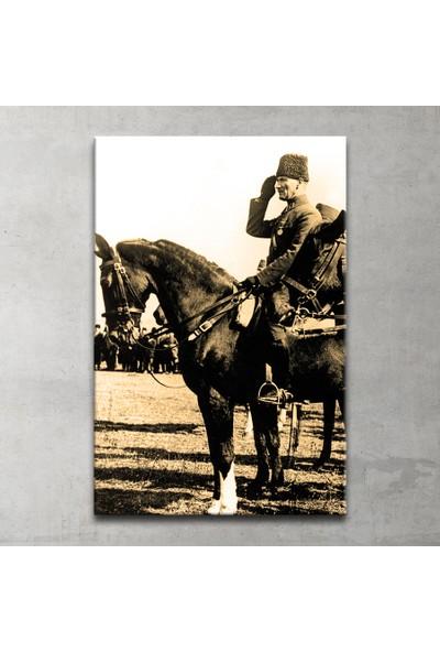Plustablo Atlı Atatürk Kanvas Tablo 80x120 cm.