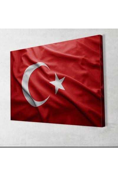 Plustablo Şanlı Türk Bayrağı Kanvas Tablo 40x60 cm.