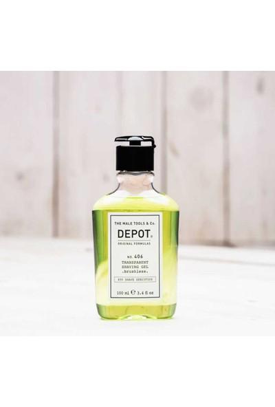Depot No 406 Transparant Shaving Gel Köpürmeyen Transparan Tıraş Jeli 100Ml