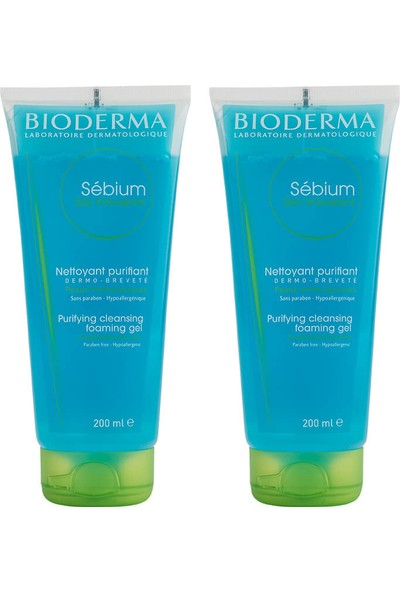 Bioderma Sebium Foaming Gel 2x200ml Tüp