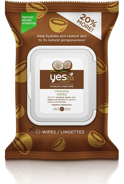 Yes To Coconut Cleansing Wipes 30 Adet