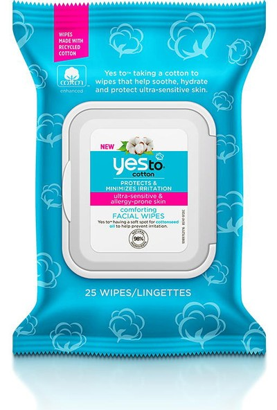 Yes To Cotton Comforting Facial Wipes 25 Adet