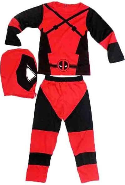 Çocuk Deadpool Spandex Superhero Kostümü