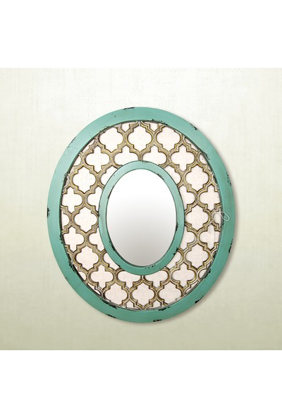 Vitale Varna Yeşil Çerçeveli Yuvarlak Ayna