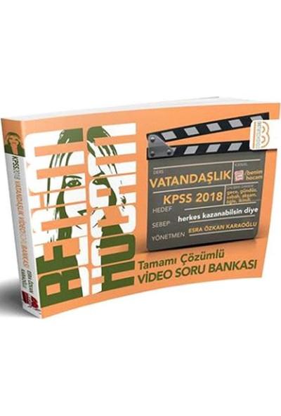 Benim Hocam Yayınları 2018 KPSS Vatandaşlık Tamamı Çözümlü Video Soru Bankası