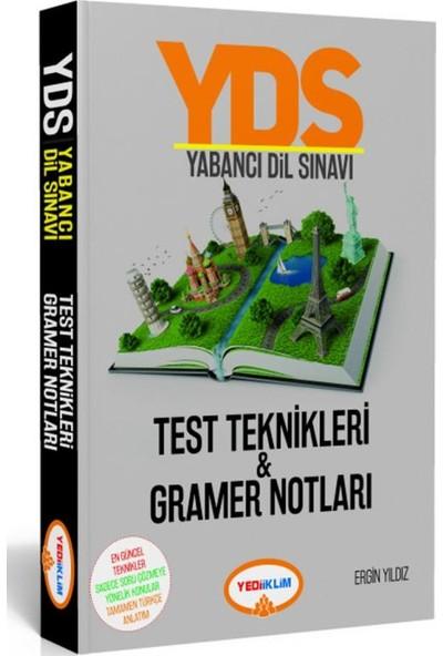 Yediiklim Yayınları YDS Yabancı Dil Sınavı Test Teknikleri & Gramer Notları