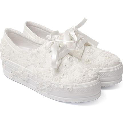 Gön 45611 Beyaz Gelinlik Topuklu Ayakkabı