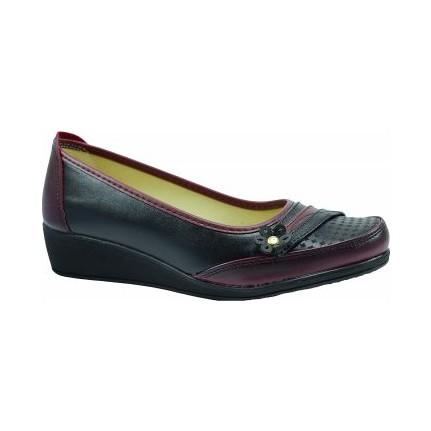 Ayzen P-01 Bordo Kadın Babet Ayakkabı