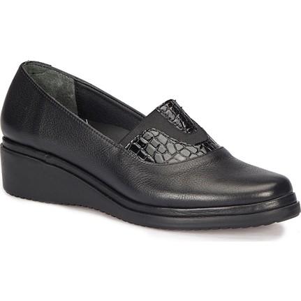 Polaris 5 Nokta 72.110070.z Bordo Kadın Deri Ayakkabı