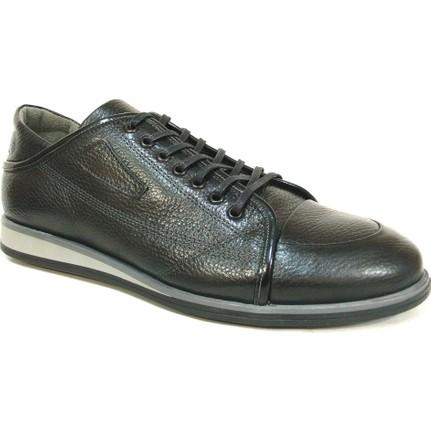 Grotto 21339 Siyah Bağcıklı Casual Erkek Ayakkabı  Ücretsiz Kargo