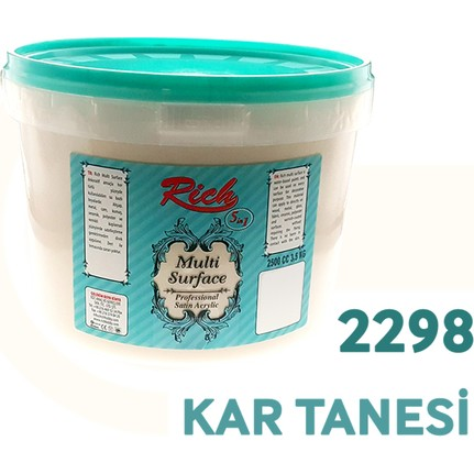 Rich Multi Surface Akrilik Boya 2500ml N2298 Kar Tanesi Fiyatı